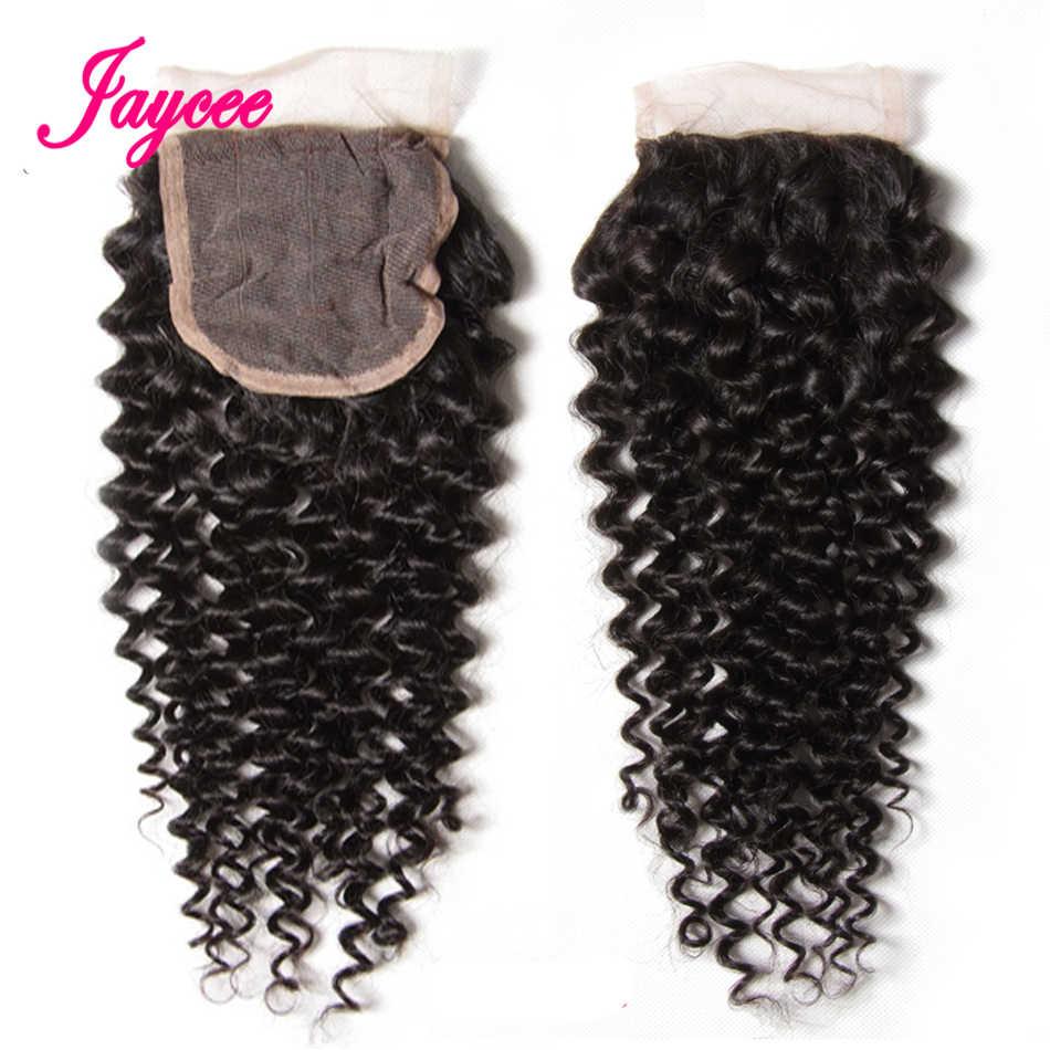 Jaycee brazylijski perwersyjne kręcone wiązki z zamknięciem 3 zestawy ludzkich włosów z zamknięciem włosy brazylijskie wyplata wiązki z zamknięciem