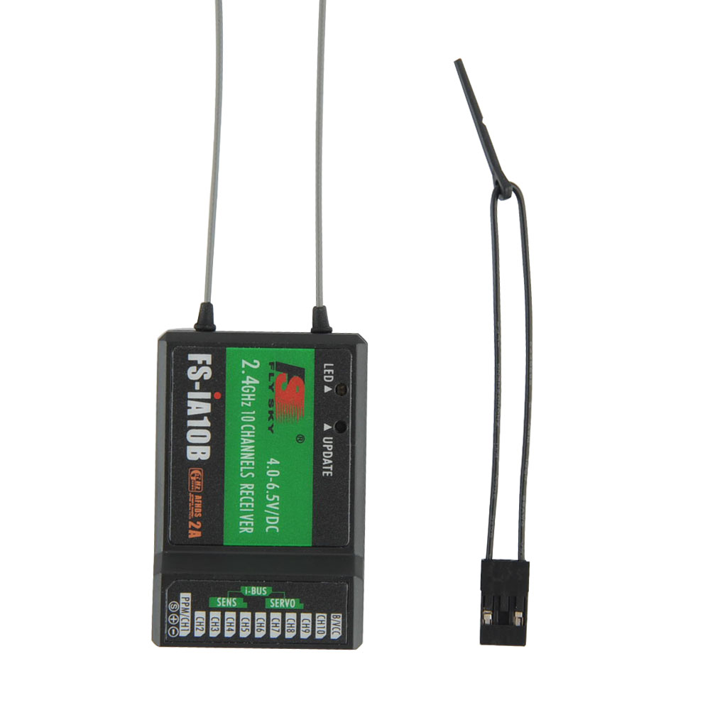 Flysky FS-IA10B 2.4G 10 channel Receiver PPM Output With iBus Port Compatible with FS-i6 FS-i6S FS-i10 For Quadcopter Pakistan
