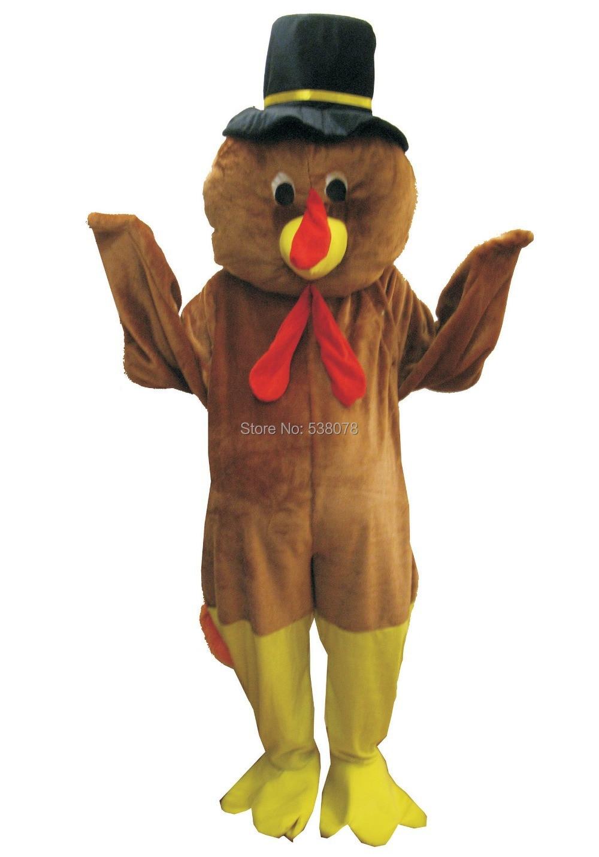 Thanksgiving Turkey mascot costume adult size new custom cheap ...