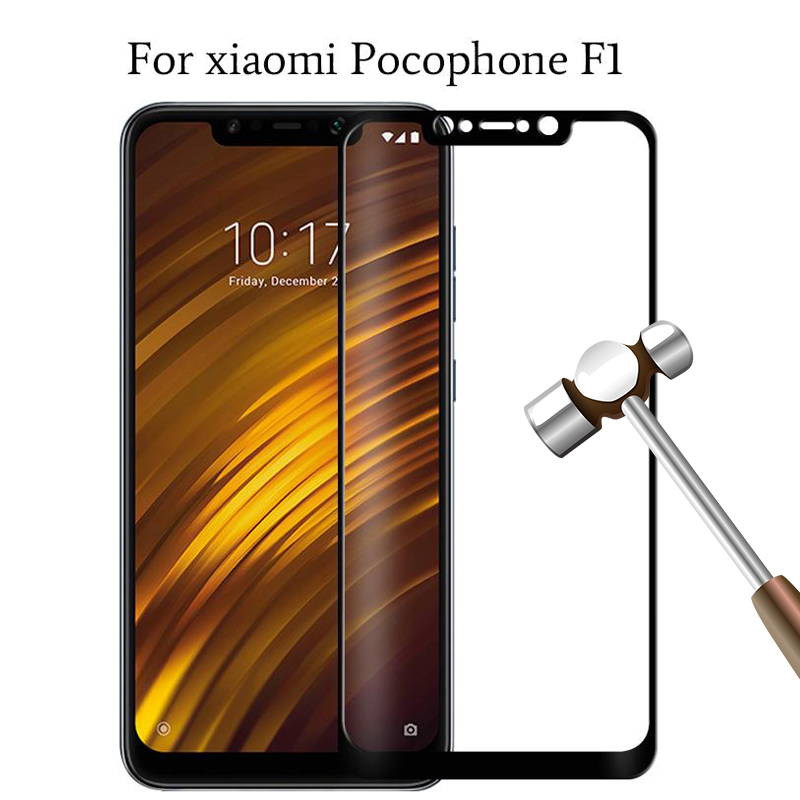 Case for Pocophone F1 Case Tempered Glass Screen Protector safety On Ksiomi For Xiaomi PocoPhone F1 F 1 protective film glas 9h