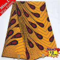 12 yards 100% algodão holland real super wax hollandais tecido, ancara tecido africano 6 metros/lote vestido de costura