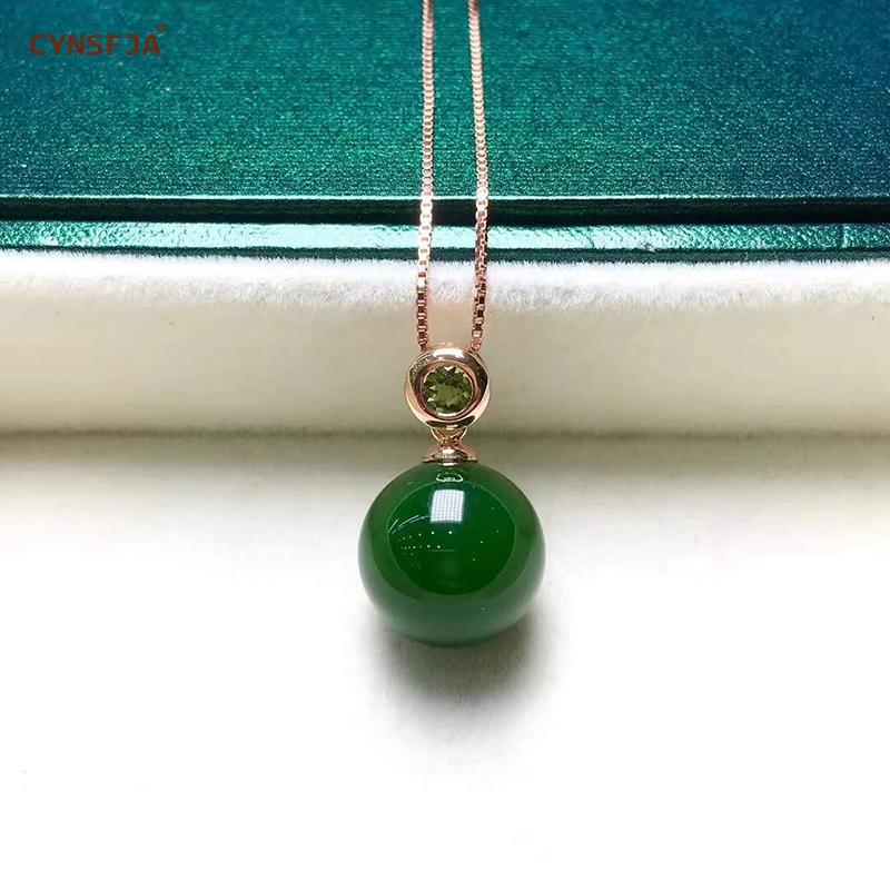 Certified Natural Hetian Jade Jasper Inlaid 18K Gold Lucky Round Jade Pendant High Quality Free S925 Necklace Wonderful Gifts in Charms from Jewelry Accessories