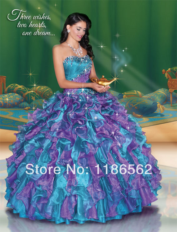 Popular Quinceanera Dresses Blue and Purple-Buy Cheap Quinceanera ...