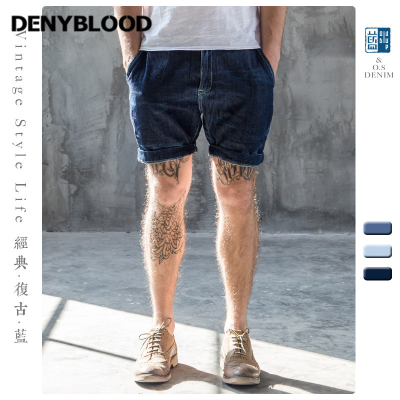 Popular Men Denim Jean Capri Short-Buy Cheap Men Denim Jean Capri ...