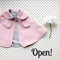Estilo de Corea del sur 2016 Fleece Combi Bebé Abrigo Bebé Capa Outwear rosa Bebé Capa Poncho Infantil Del Bebé Capa de Los Niños ropa