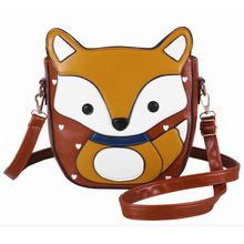 Funny Cute Fox Bag Cartoon Small Women Messenger Shoulder Crossbody Bag for Women Leather Handbag Fashion 2016