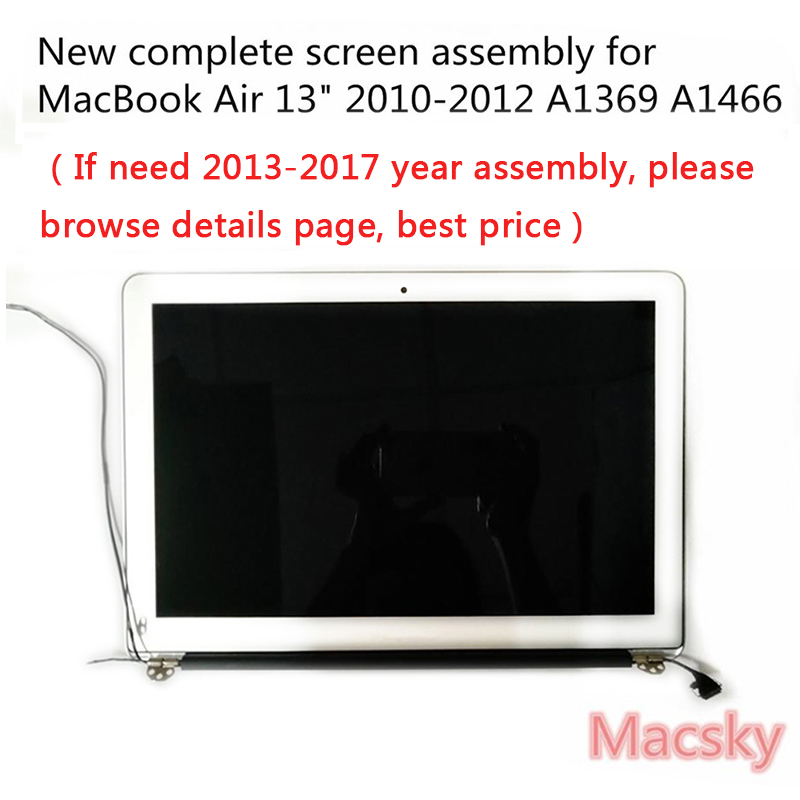 Brand New Complete A1466 LCD Screen Assembly for Macbook Air 13 A1369 Display Replacement 661 5732