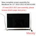 Новый Полный A1466 ЖК-экран в сборе для Macbook Air 13 ''A1369 замена дисплея 661-5732 MC503 MC965 2010 2011 2012