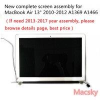 真新しい完全な A1466 液晶画面アセンブリ Macbook Air 13 ''A1369 ディスプレイの交換 661-5732 MC503 MC965 2010 2011 2012
