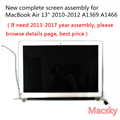 Marke Neue Komplette A1466 LCD Screen für Macbook Air 13 ''A1369 Display Ersatz 661-5732 MC503 MC965 2010 2011 2012