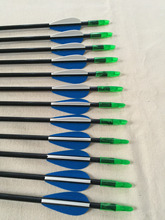 Free shipping 12 Pcs 30″ Fiberglass arrow ID4.2 OD6mm Spine700 with 2″ plastic vane for Recurve bow archery