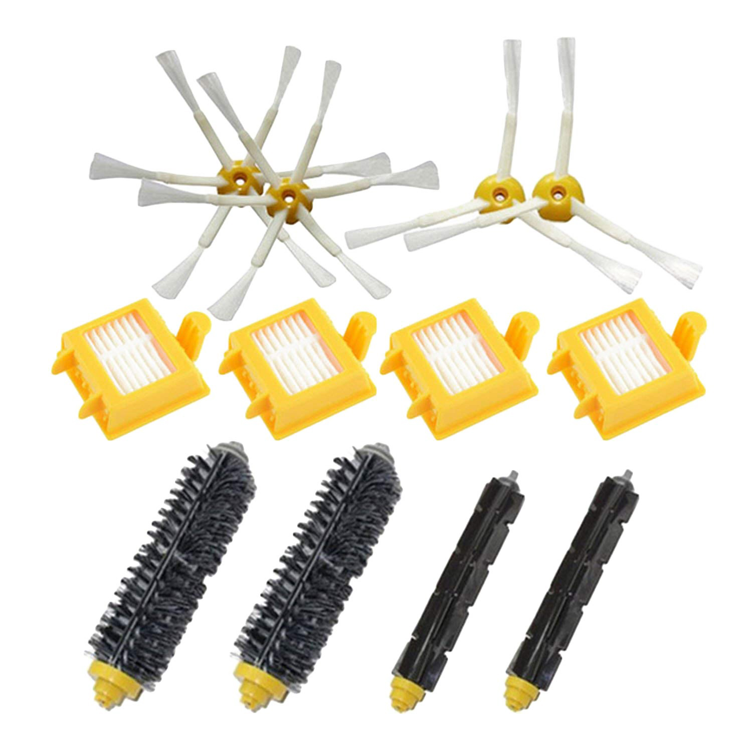 Side Brush + Filter + Bristle Beater Replacement Kit Parts Set for iRobot Roomba 700 Series Vacuum Cleaner Robots 760 77 14pcs free post new side brush filter 3 armed kit for irobot roomba vacuum 500 series clean tool flexible bristle beater brush
