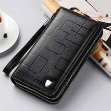 New Luxury Brand Men Wallets Long Purse Wallet Male Clutch Leather Zipper Business Coin