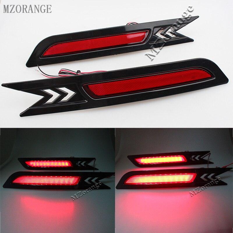 MZORANGE 2pcs Car Styling LED SMD Red Len Rear Bumper Reflector LED Stop Brake Light Tail Lamp for Honda CRV 2010 2011