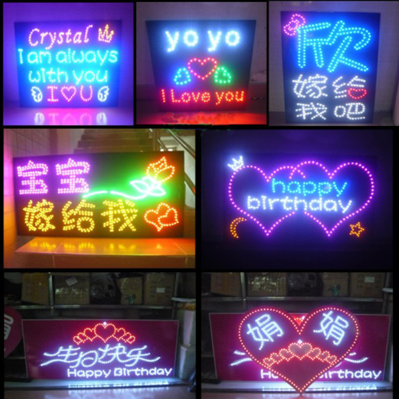 Customized Handhold Name Fans Star Led Light Board For Concert Wedding Birthday