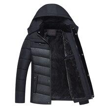 2017 New Male Brand Parkas Winter Jacket Men Thicken Hooded Coats Outerwear Warm Coat Duck Down Jackets Windproof Tops Black 4XL