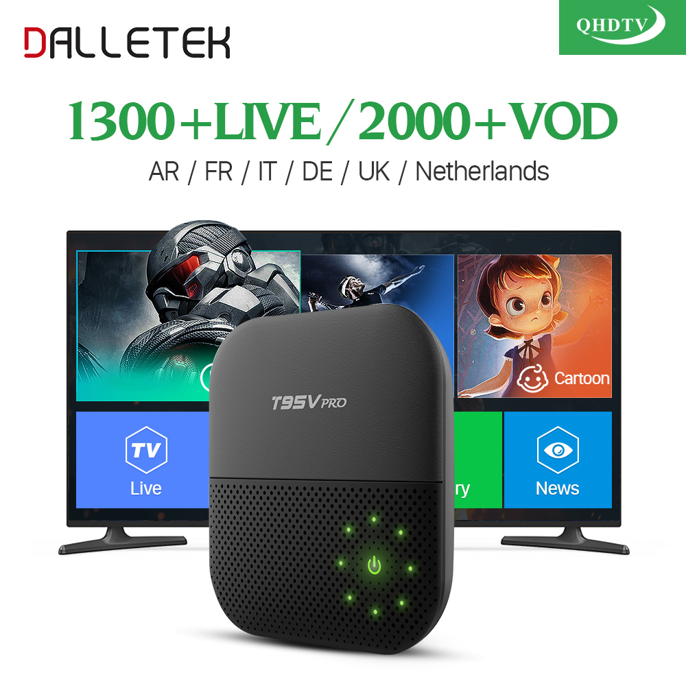 Dalletektv Latest Movies Shows Arabic British Channels Android 6.0 TV Box S912 2GB 16GB Sport French Europe UK Iptv Set Top Box