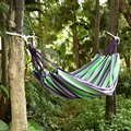 New 3 Colors Striped Thick Canvas Hammocks 2 People Hammock Indoor Leisure Outdoor Camping Hammock 180 * 150cm
