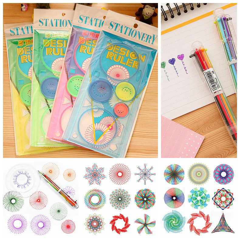 Kids Toys Spirograph Art Tool Drawing Ruler Toys fo Children Drawing Painting Ruler Educational Toys Spirographs Drawing Toys