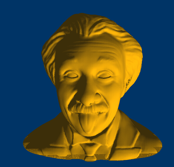 Albert Einstein 3D STL Model For CNC Router Sculpture And Printer 42MB