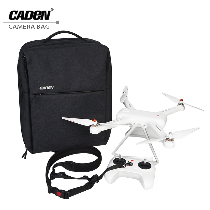 CADeN MI Drone Backpacks for Xiaomi Business Travel Bag Waterproof Nylon Drones Backpack Cases for MI Drone with Rain Cover W8 original xiaomi 4k drone bag backpack multi functional business travel backpacks with 26l for 15 6 inch computer laptop mi drone