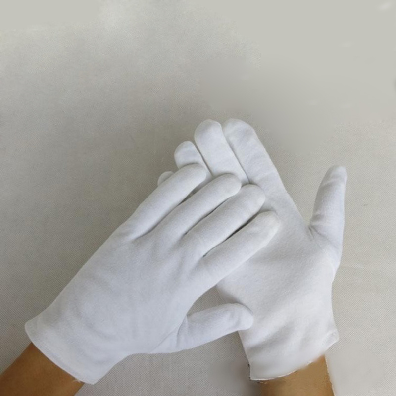12 pairs White 100% Cotton Gloves Serving Waiters Gloves Concierge Butler Snooker Equestrian Gloves