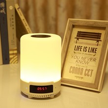 Multifunctional Bluetooth Speaker Music Light Alarm Clock Modes Smart Touch Colorful Bedroom Bedside Lamp