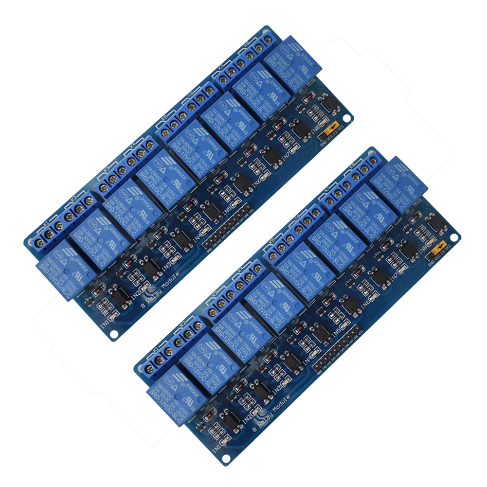 2PCS 8-Channel 12V Relay Shield Module For UNO 2560 1280 ARM PIC AVR STM32 High Quality relay shield v2 0 5v 4 channel relay module