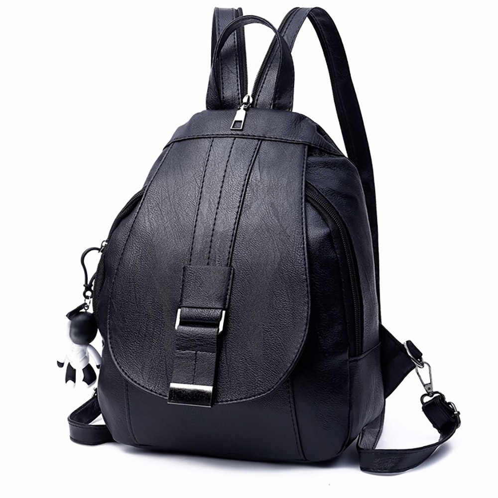 OCARDIAN Bag Women Multifunction Dual-use Bags Soft Leather Travel Backpacks For Women 2019 Mochila Feminina Bags Dropship May17
