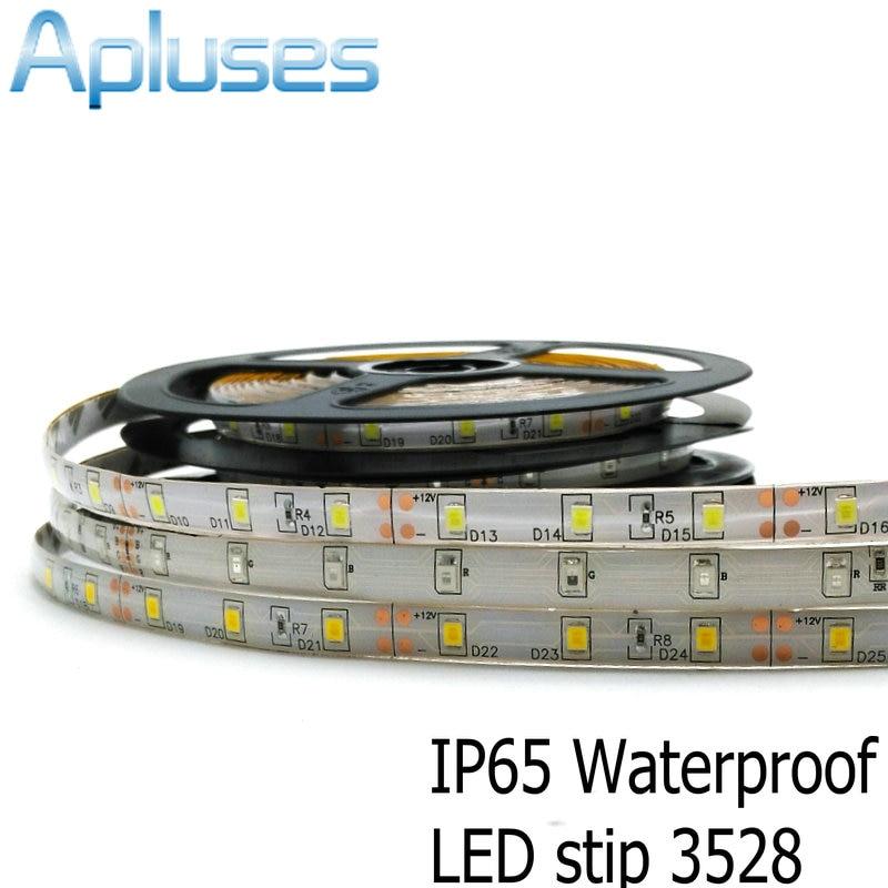 5m / šarže 3528 LED proužek 12V flexibilní dekorace osvětlení 300LED vodotěsná LED páska RGB / bílá / teplá bílá / modrá / zelená / červená