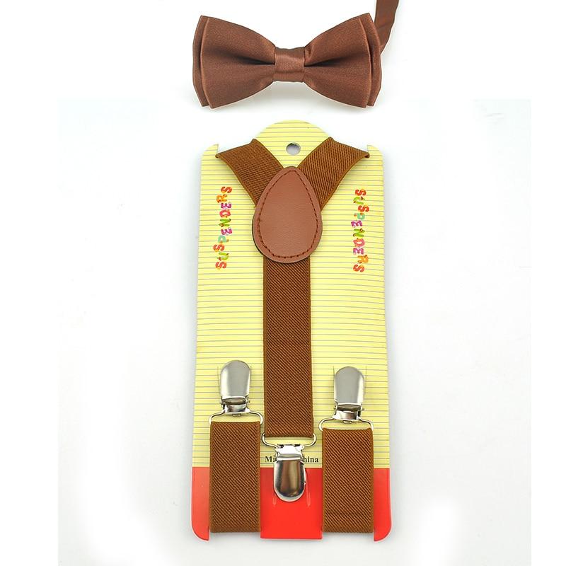 Bow Tie Suspenders Set Y-Shape Braces For Pants Holder Trousers Butterflyknot Fashion Kids Children Boys Girls Formal Dress Gift