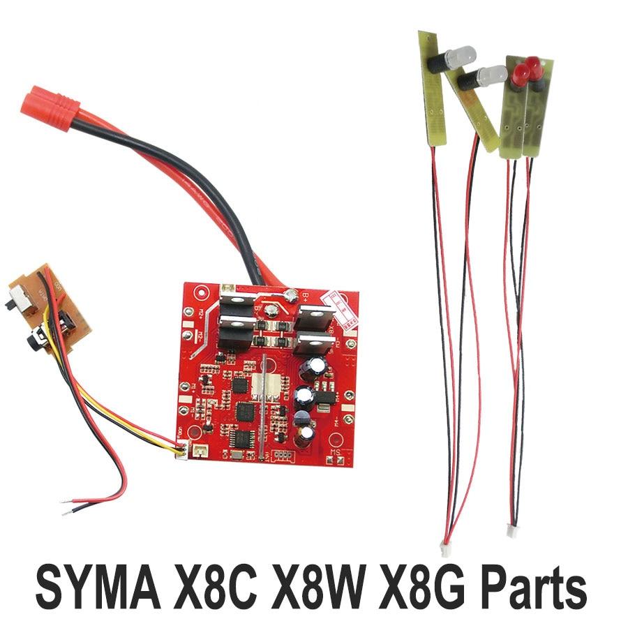 SYMA X8C X8G X8W RC Drone Accessories Original Receiver PCB Circuit Main Board + Light Line Rc Toys Spare Parts f09166 10 10pcs cx 20 007 receiver board for cheerson cx 20 cx20 rc quadcopter parts