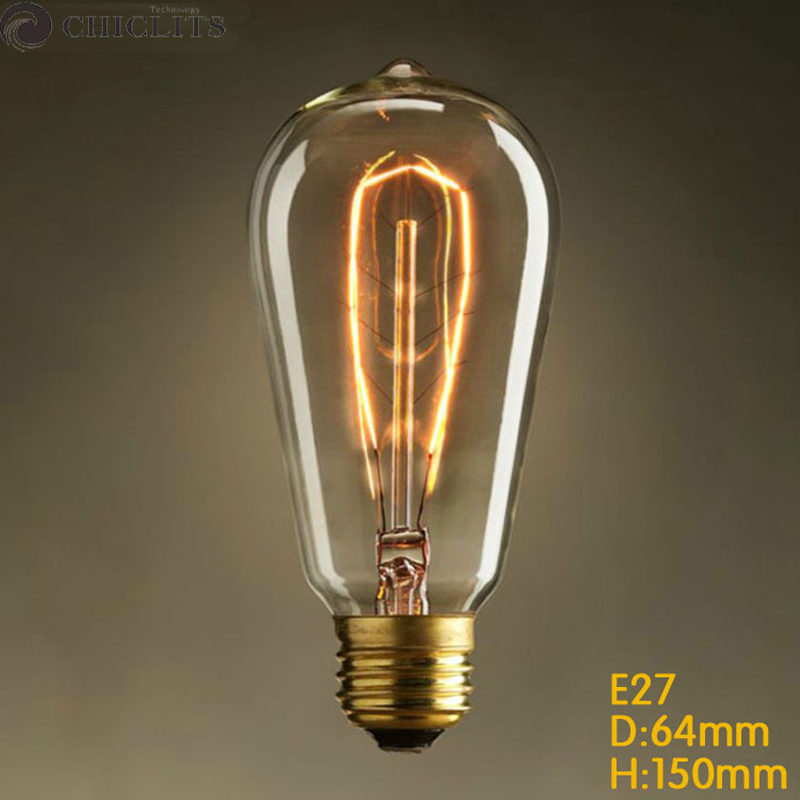 buy ampoule edison bulb e27 40w 220v. Black Bedroom Furniture Sets. Home Design Ideas