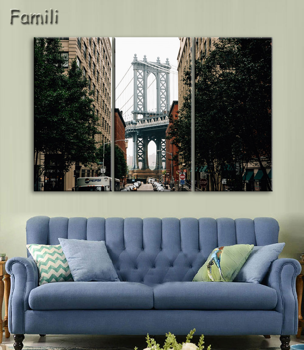 3pcs Pantings On The Wall Art Canvas Painting New York City Wall Pictures For Living Room Cuadros Decoration Home Decor No Frame