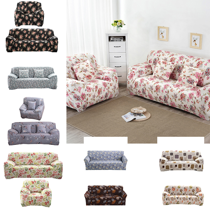 Small Floral Print Sofa Cover Cloth Couch Cover Art