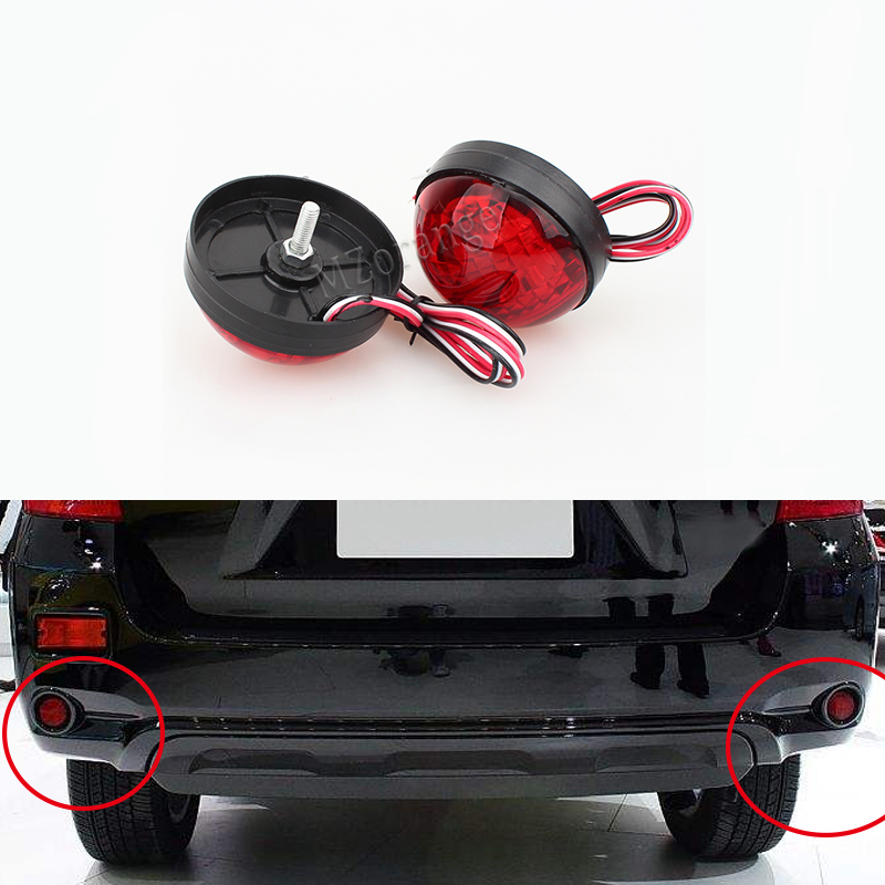 For Toyota Highlander 2009-2011 Fortuner Voxy Mitsubishi ASX LED Brake Lamp Red Tail Light Parking Warning Rear Bumper Reflector