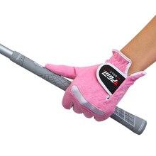 Спорт на открытом воздухе поло перчатка для гольфа высокого качества PGM Брендовые женские перчатки супер волоконная ткань эластичная дышащая Леди 1 пара 4 цвета