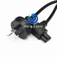 5 PCS/lot C5 Cloverleaf Lead to AU 3 Pin AC EU Plug Power Cable Lead Cord PC Monitor