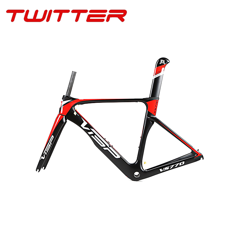 2018 New Carbon Fiber Highway Frame Full Internal Line Road VS770 With Carbon Front Fork And Seat Tube Buckle Free Shipping