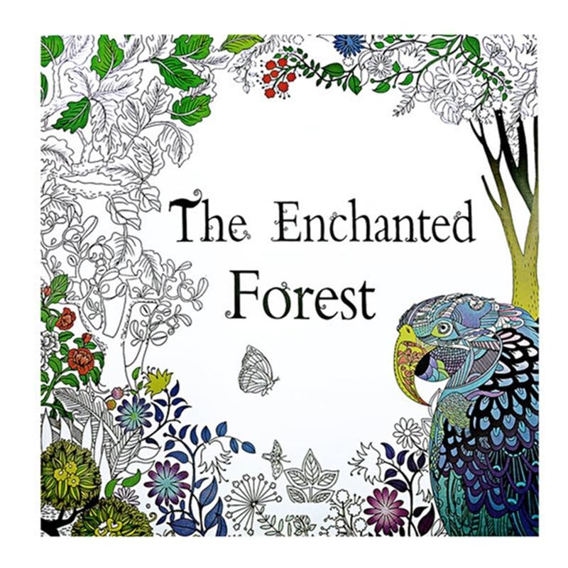 El bosque encantado libro para colorear para adultos Kid pintura ...
