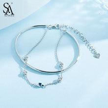 Женский двухслойный браслет sa silverage из стерлингового серебра
