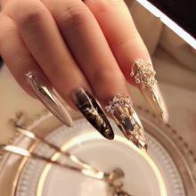 hot 3D metal Zircon Nail art jewelry Japanese nails parts decorations top-level zircon crystal Manicure zircon diamond Charms