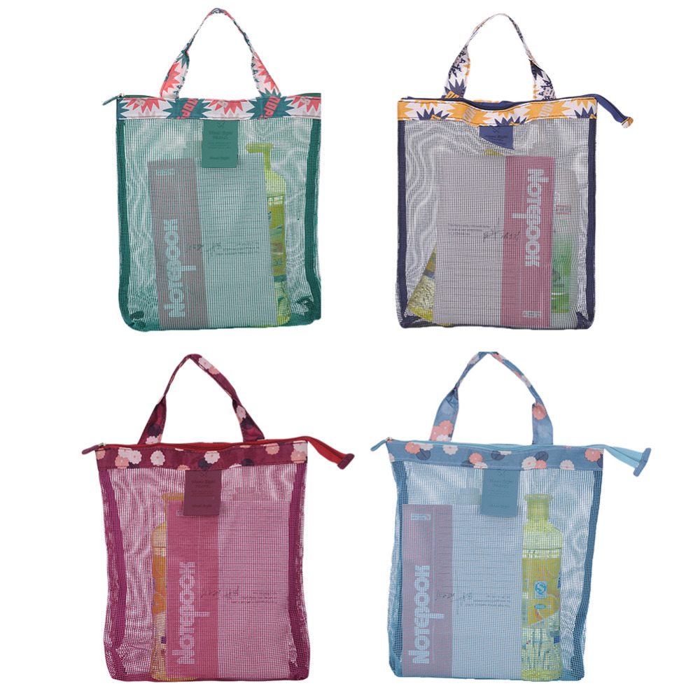 824808134 Portable Swimming Beach Bag Swimwear Mesh Bag Travel Mesh Cosmetic Bag Make  Up Organizer Purse Box Toiletry Handbag With 4Colors