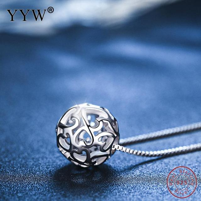 2018 Spring Summer Hot Silver 925 Jewelry Pendant for Necklace Round Hollow Koly