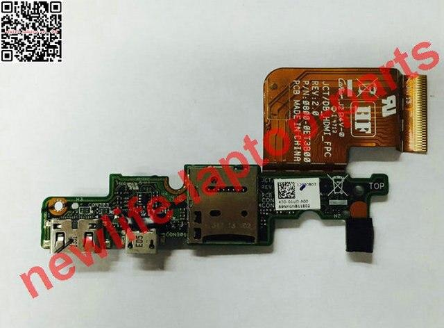 Carregador original para Venue 11 pro 7130 TF leitor USB placa de JCT DB_HDMI_BOARD REV 2.1 com cabo de teste bom frete grátis grátis
