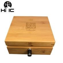 Decodificador de Audio HiFi Box one, amplificador GND, altavoz, caja de conexión a tierra, purificador de alimentación, caja de tierra negra electrónica