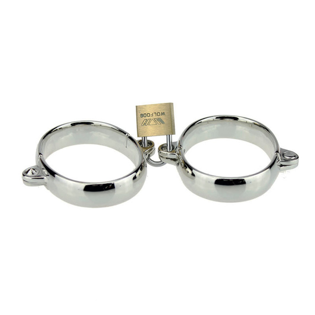 Dia 5065Mm Metal Handcuffs Slave Erotic Hand Cuffs Ankle -8211