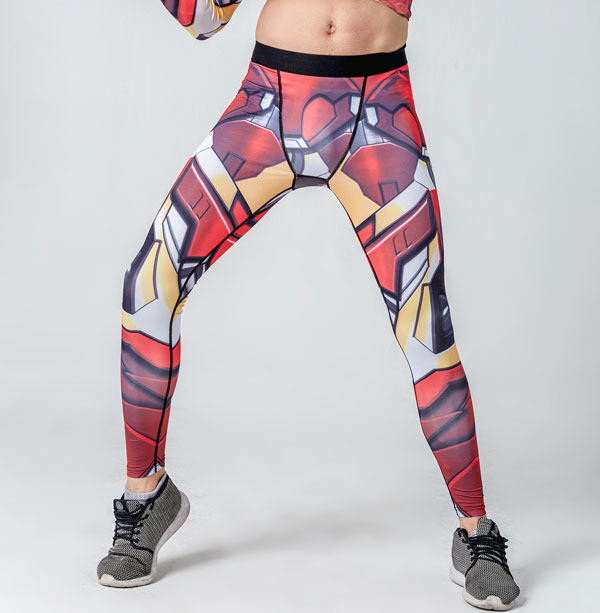 Iron Man 3D Gedruckt Leggings Männer Kapitän Amerikanischen Muster Kompression Strumpfhosen Hosen 2017 Dünne Sweatpants Fitness Hosen Männlichen