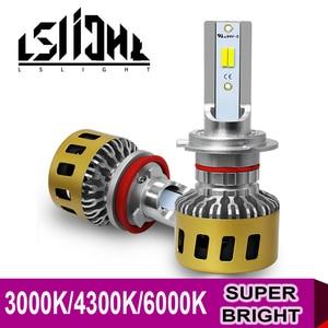 Image 1 - LSlight LED Scheinwerfer H7 H4 H11 H1 9006 HB2 HB4 H8 H9 LED Auto Birne 3000K 4300K 6000K 9600LM 72W 12V 24V Auto Licht Ampulle