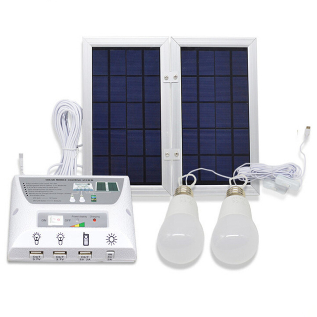 6W Solar Panel 8000mah Battery Mobile Solar Power Home Lighting ...